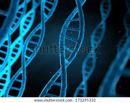 3d rendered illustration of the human genome - stock photo