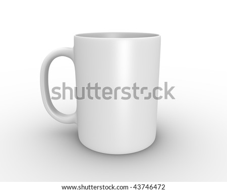 3D rendered illustration of white coffee/tea mug - stock photo