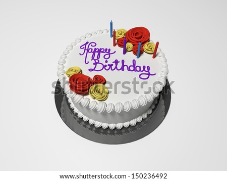 3D rendered illustration the isolated birthday cake - stock photo