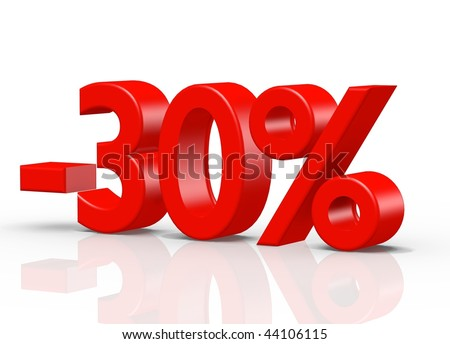 3D rendered image on white background - stock photo