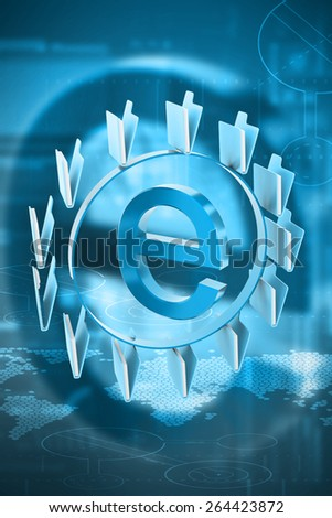 3d rendered Internet sign with folders in color  background - stock photo