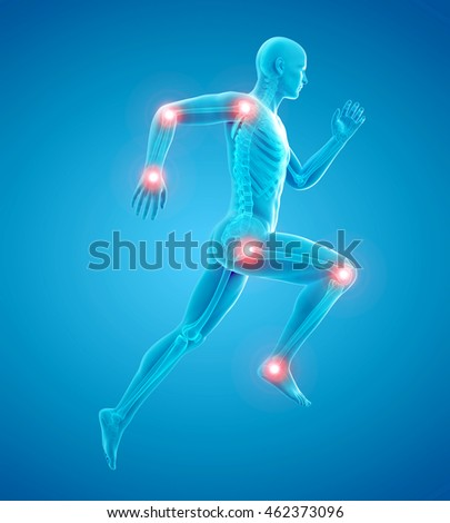 3d rendered medically accurate illustration of a runners bones