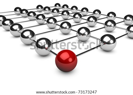 3d rendered network concept on white background - stock photo