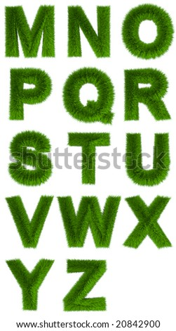 3d rendered organic alphabetical characters #2 - stock photo