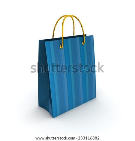 3d rendered plastic bag isolated on white background. - stock photo