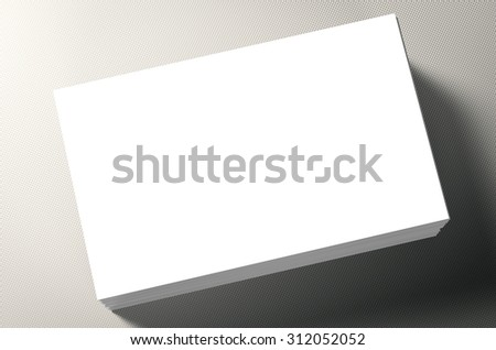 3d rendered stack of blank name cards