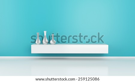 3d renderer image. Modern interior room. Architecture concept - stock photo