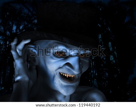 3d rendering a old Vampire as Illustration
