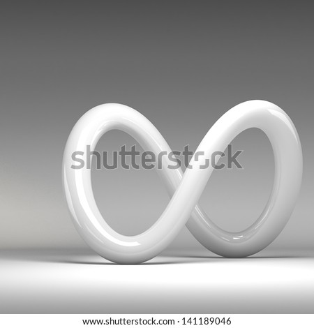 3D rendering abstract knot - stock photo