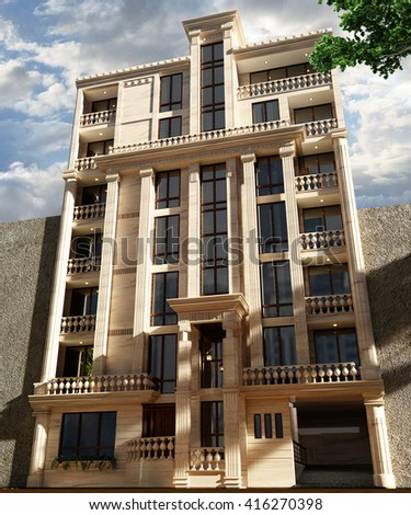 3d Rendering And Design   Classical Apartment   Elevation