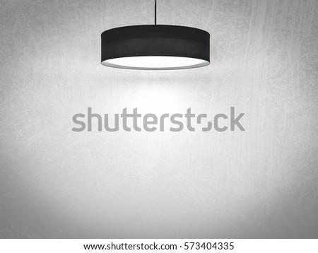 3d rendering black pendant lamp hanging 573404335 3d rendering black pendant lamp hanging on ceiling mozeypictures Gallery