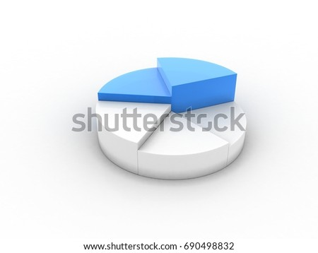 3d rendering business concept. pie business Graph