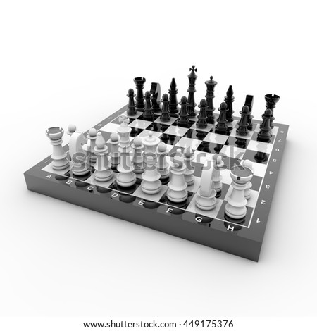 3D-Rendering Chess