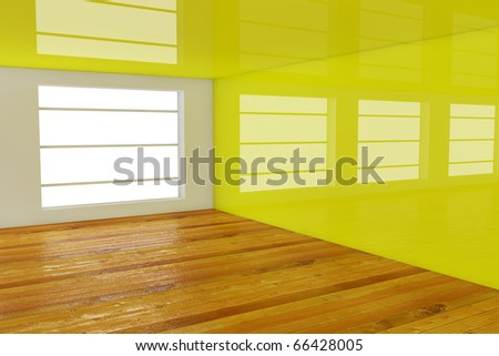 3d rendering gree empty room