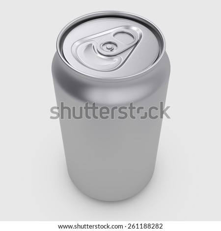 3d rendering group of tin drinking containers