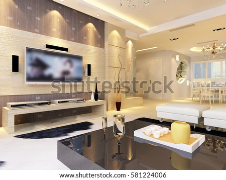 3d Rendering Home Interior