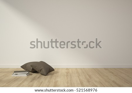 3d rendering interior decoration empty room