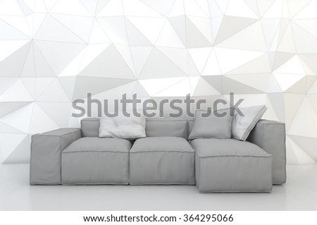 3d rendering interior scene  - stock photo