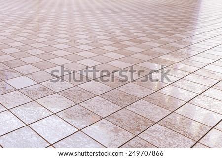 3d rendering of a bath tiles floor - stock photo