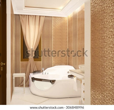 3d rendering of a bathroom interior design