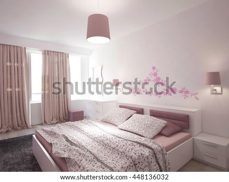 3d rendering of a bedroom interior design