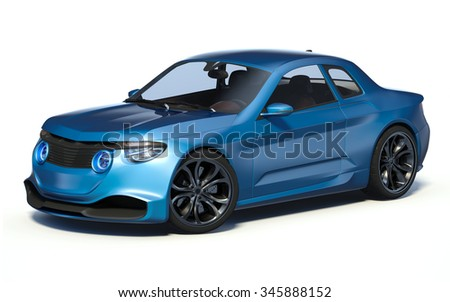 3D rendering of a brand-less generic concept car in studio environment. This is my own design. The car does not exist in real life