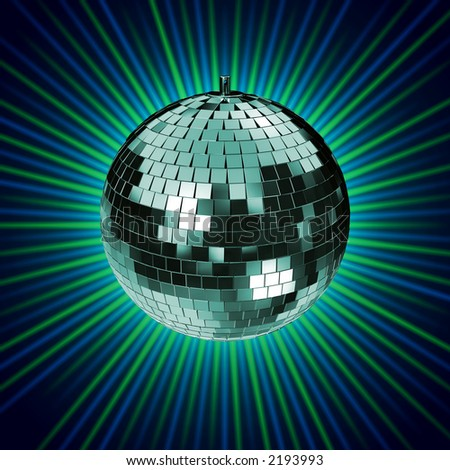 3d rendering of a disco mirrorball. check my portfolio for variations of this mirrorball.