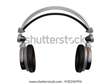 3D rendering of a dj headphones isolated on white background