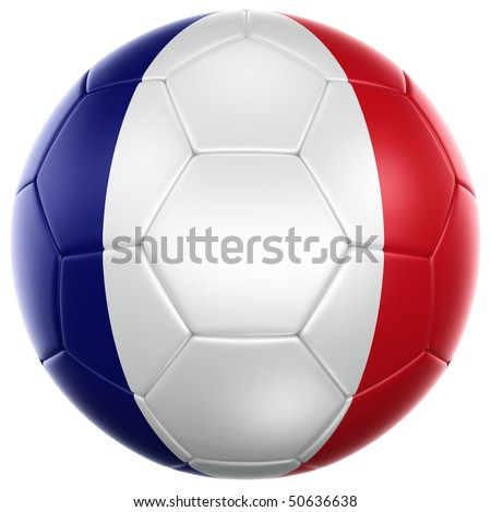 3d rendering of a French soccer ball isolated on a white background - stock photo