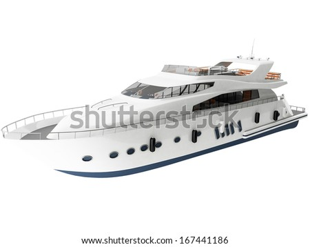 3d Rendering of a Generic Yacht