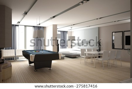 3d rendering of a living room interior design