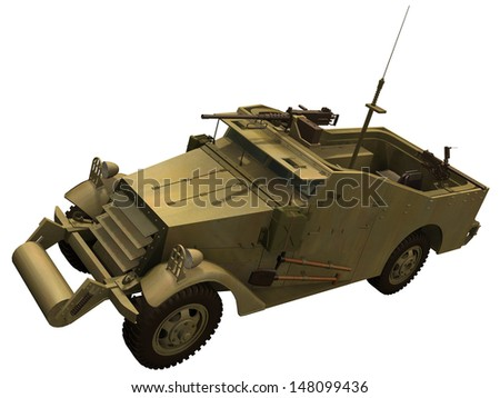 3d Rendering of a M3 Scout Car
