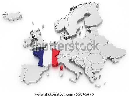 3 d rendering map europe france selected stock illustration 55046476 3d rendering of a map of europe with france selected gumiabroncs Image collections