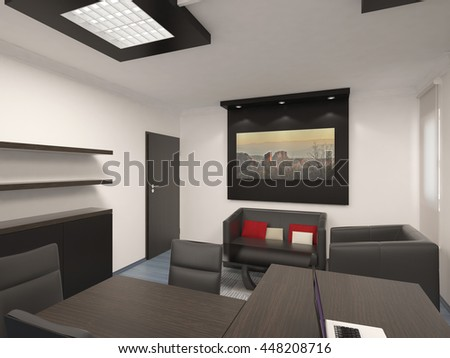 3d rendering of a office cabinet interior design