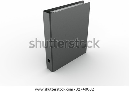 3d rendering of a ring binder in a modern fiber material - stock photo