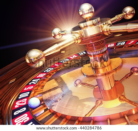 3d rendering of a roulette - stock photo