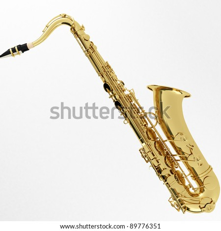 3d Rendering of a Saxophone
