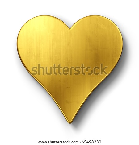 3d rendering of a sign in gold on a white isolated background. - stock photo