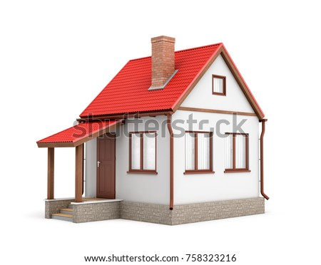 Side of house stock images royalty free images vectors for Build your own 3d house