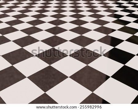 3d rendering of a square tiles wall - stock photo