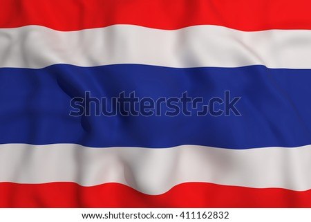 3d rendering of a Thailand flag waving