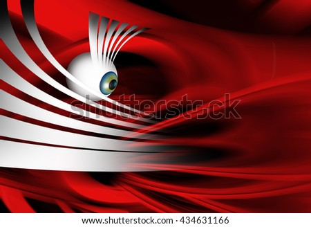 3D rendering of abstract illustration surreal portrait - stock photo