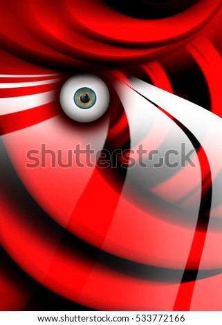 3D rendering of abstract illustration surreal portrait
