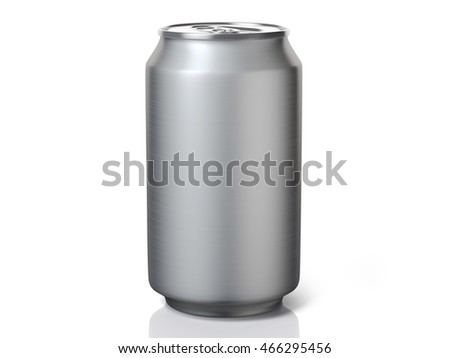 3D Rendering of Aluminium Beverage Can, on white background. Includes Clipping Path.