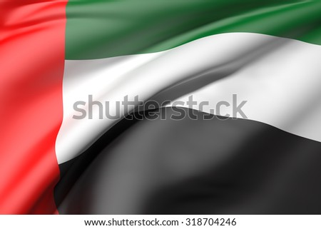 3d rendering of an Arab United Emirates flag - stock photo