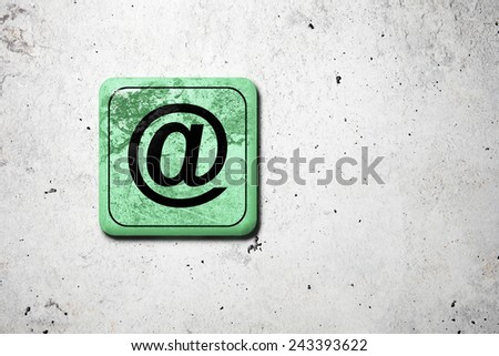 3d rendering of an old and dirty at symbol - stock photo