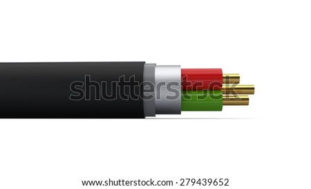 3d rendering of an optic fiber cable
