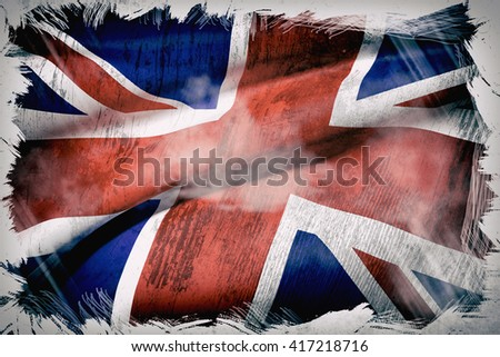 3d rendering of an united kingdom flag - stock photo