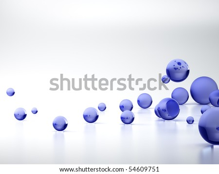 3D rendering of Blue sphere background - stock photo