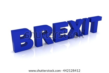 3d rendering of brexit text - stock photo